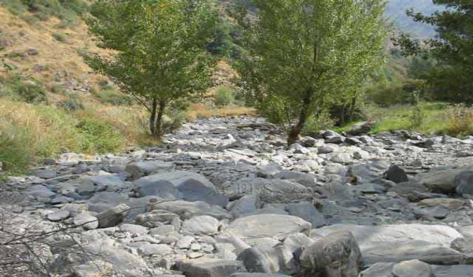 Río Trévelez tras una captación